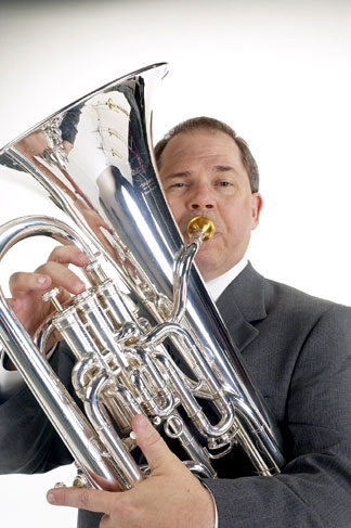 Norlan Bewley plays the euphonium